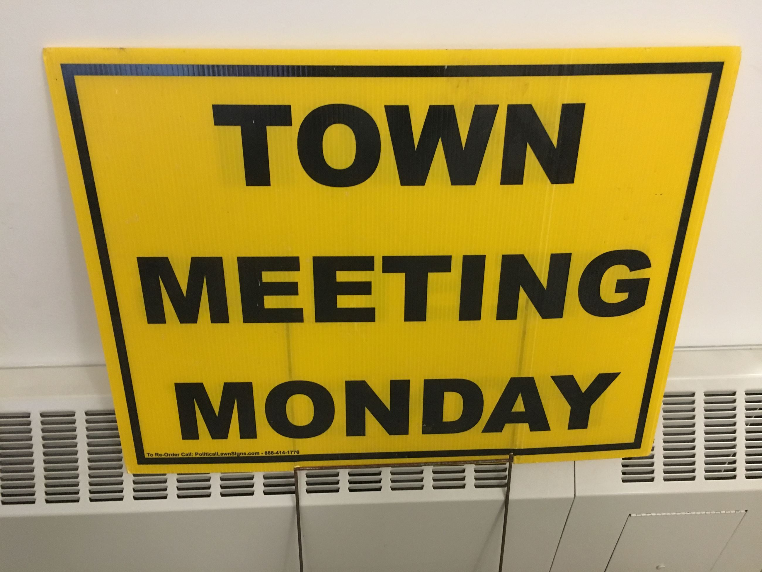 Town Meeting Sign